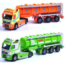 1:50 KAIDIWEI Diecast Metal & ABS Tanker Model Car Dinky Toys For Children Boys Birthday Gift Truck Cars Brinquedos