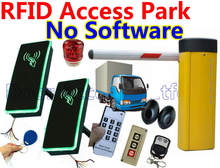 RFID Access Car Parking Barrier gate kit without software Single gate Entry+Exit use card 10cm read remote+infrared sensor kit(China)