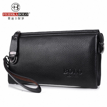 Vintage Famous Brand Men Wallet Luxury Long Men's Clutch Bags Male Monederos Purse Leather Portemonne carteira masculina(China)