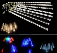 8pcs/set Snowfall LED Strip Light Christmas Rain tube Meteor Shower Rain LED Light Tubes 100-240V EU/US/UK/AU Plug(China)