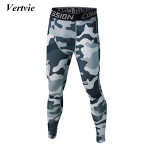 Vertvie Sports Legging Men Elastic Waist 3D Printed Basketball Compression Tights Quick Dry Gym Workout Running Fitness Pants