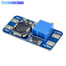 Free Shipping MT3608 DC-DC Step Up Converter Booster Power Apply Module Booster Power Module MAX Output 28V 2A For Arduino
