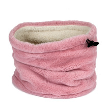 Men women universal wild thickening dual purpose hat imitation rabbit winter warm lady o neck collars girls wraps scarves