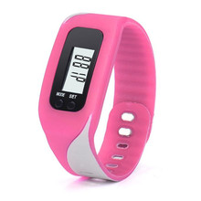 2017 New amazing colorful beautiful fashion Digital LCD Pedometer Run Step Walking Distance Calorie Counter Watch Bracelet /