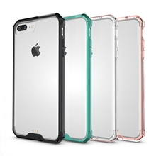 Hot Crystal Clear Back Cover Hybrid Shockproof Air Cushion Tech Cell Phone Case Mask Sleeve Shell For Apple iPhone 6 6S 7 Plus(China)