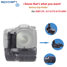 Spash Professional Battery Grip Pack Holder/Handgrip for Sony SLT-A77 V A77 A77 II A77 Mark II DSLR Cameras as VG-C77AM