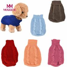 6 Colors Pet Dog Knitted Jumper Pet Dog Clothes For Small Dogs Chihuahua Winter Warm Sweater Puppy Coat Clothes Costume S-L(China)