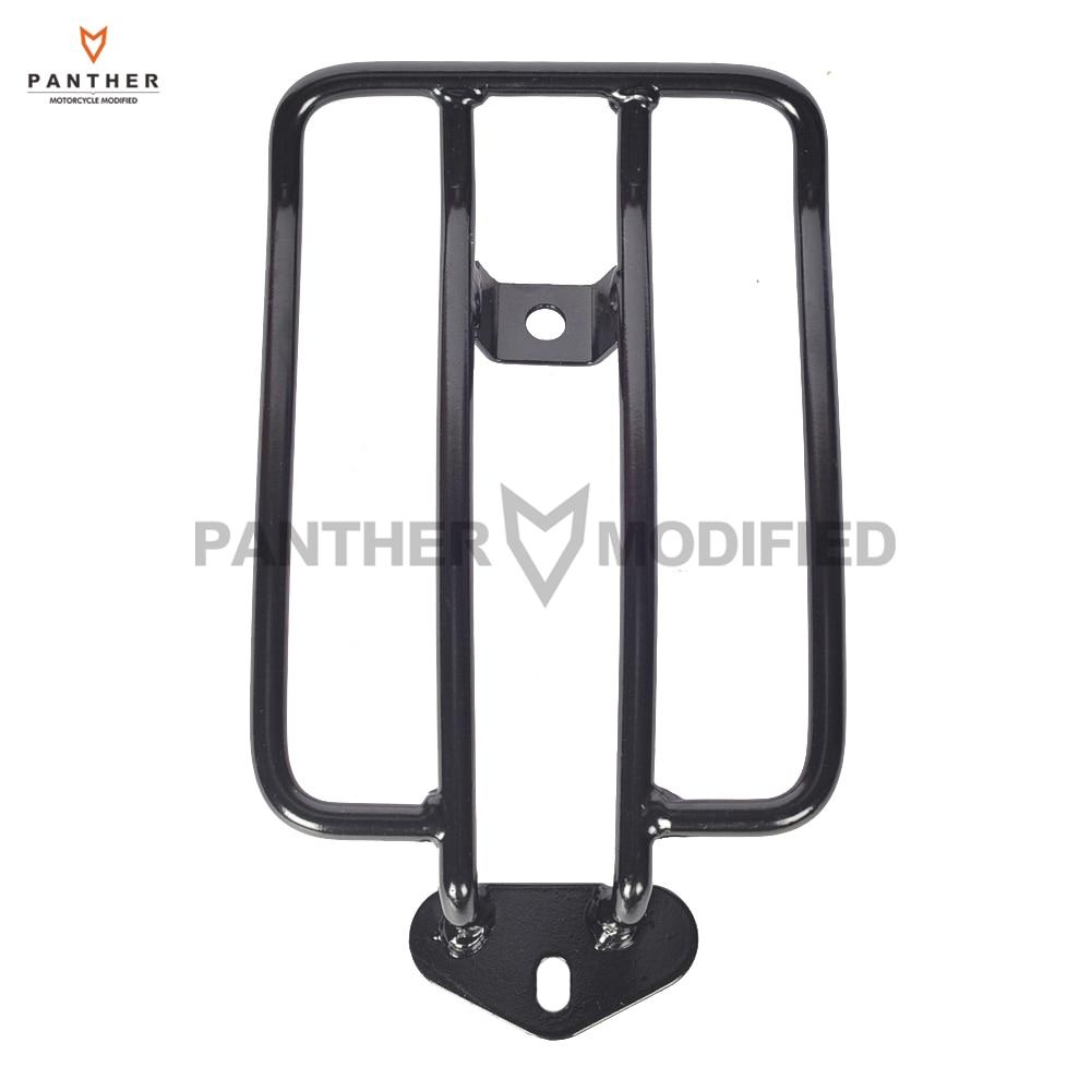 Black Motorcycle Solo Seat Luggage Shelf Frame Rack Case for Harley Sportster XL 883 1200 1985-2003<br>