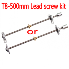 T8 Lead screw 500 mm 8mm + brass copper nut + KP08 or KFL08 bearing Bracket +Flexible Coupling for 3D-printer&CNC