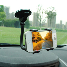 Universal Car Phone Holder Adjustable Long Arm 360 Rotation Windshield Car Mount Cradle Stand For IPhone Xiaomi Huawei