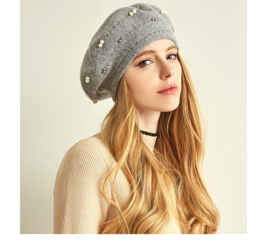 قبعة صوف محبوكة 5