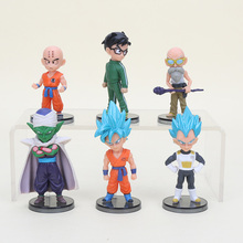 6pcs Dragon Ball Super Figure Set Resurrection F Piccolo Kuririn Son Gohan Super Saiyan God Goku Vegeta Action Figures Model Toy