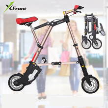 New A-bike unisex 10 inch wheel mini ultra light folding bike subway transit vehicles road bicycle outdoor sports bicicleta(China)