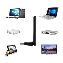 New Wireless WiFi Adapter 2dB Wifi Antenna 150Mbps WLAN Network Card Portable USB WiFi Receiver Adapters EM88(China)
