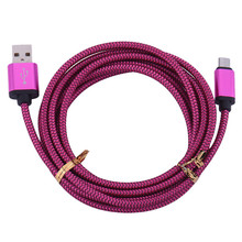 Hot Sale Micro usb V8 Cable for Samsung Huawei Android phone 0.25m 1m 2m 3m Charge wire usb Nylon Mini USB Charger Cable