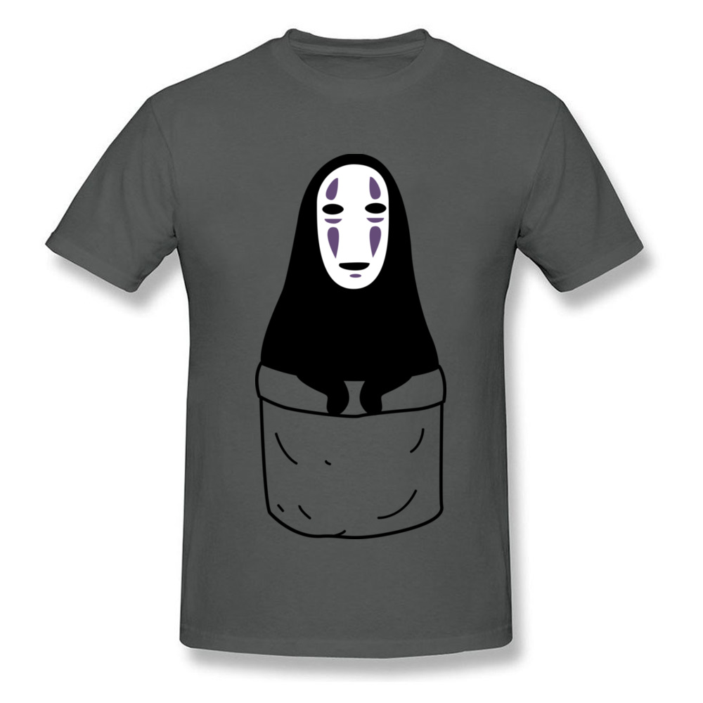 Mens Tops Shirts Kaonashi in a pocket Newest Printed On T-shirts 100% Cotton Short Sleeve Funny Sweatshirts Round Neck Kaonashi in a pocket carbon