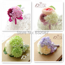 Beautiful Corsage Flower Bride Groom and Important Guests Corsage Formal Dinner Wedding Decorative Artificial Flower(China)