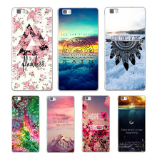 Fashion scenery soft silicone cover for huawei P8 P9 Lite P10 Plus NOVA MATE 8 9 honor 8 case for huawei p8 lite 2017 phone capa