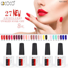 70312# Gel nail  polish canni supply 27 colors gdcoco soak off uv led gel varnish for nail art design