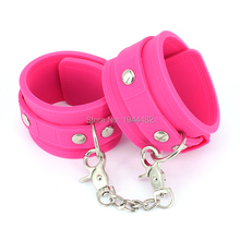 Buy SODANDY Handcuffs Pink Wrist Cuffs Silicone Fetish Bondage Restraints Femdom Slave Hand Shackles Sex Toys Couples Adult Game