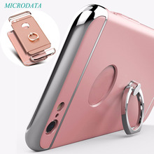 Luxury 3D Aluminum Metal buckles finger Phone Ring Case holder For iPhone 7 6 6s 7plus Plus Hard Kickstand Back Cover Case