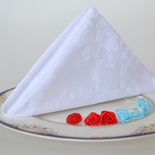 100pcs White cotton cloth folded flower cloth the hotel restaurant  napkins cloth
