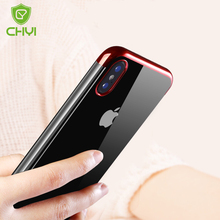 CHYI phone Case for iphone x / 10 Case Luxury Gradient Plating soft TPU PC Ultra Thin anti -knock back cover for iphone x / 10(China)