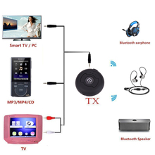 3.5MM Bluetooth 4.0 Multi-point Wireless Audio Bluetooth audio Transmitter Music Stereo Dongle Adapter H-366T for TV L3FE