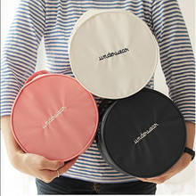 Round Shape Trip Storage Bag Wash Bag Portable Cylindrical Pouch Finishing Package Korea Bra Underwear Storage Bags