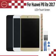 1920X1080 IPS For Huawei P8 Lite 2017 LCD Display and Touch Screen Assembly Perfect Repair Part 5.2 inch EMU5.1+Tools + Adhesive