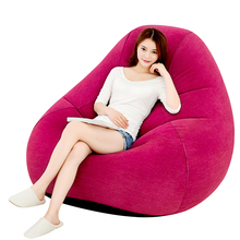 4817 inflatable sofa, single lazy chair, lovely office bedroom, leisure air cushion, sofa bed(China)