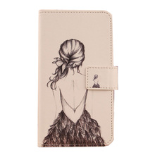 ABCTen Fashion Flip PU Leather Card Holder Wallet Phone Bag Printed Case for MEDION LIFE P5005 MD 99474 5''