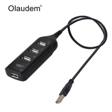 High Speed 4 Ports USB 2.0 USB Hub Adapter Data Cable USB Port For Laptop PC Computer Laptop Peripherals Accessories HUB928(China)