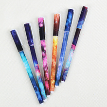 6PCS/Lot Beautiful Starry Sky Pattern and Flower Polka Dot Color Gel Pen for School Office Writing Stationery