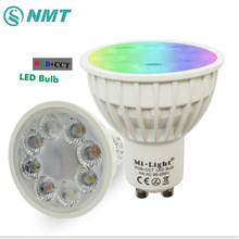 4W Mi Light LED Bulb GU10 MR16 Dimmable Lamp Light RGB + Warm White + White (RGB+CCT) Spotlight Indoor Living Room Decoration