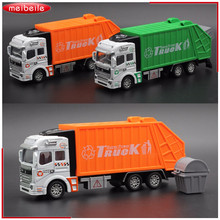 New Large Garbage Truck Toy For kids Clean Car Sanitation Trash Trucks Alloy Car Model Christmas Gift For Child(China)
