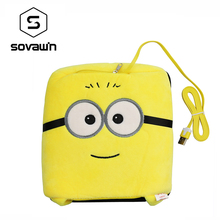 Sovawin Coral Velvet Winter USB Heated Mouse Pad Hand Warm Warmer Minions Plush Cover Mousepad Heat Source Mat for Officer Home(China)