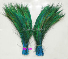 100Pcs/Lot!Peacock Sword Feathers dyed Sky Blue,Light Blue Peacock Feathers,Craft Floral Feathers,Wedding Decorations,Halloween(China)