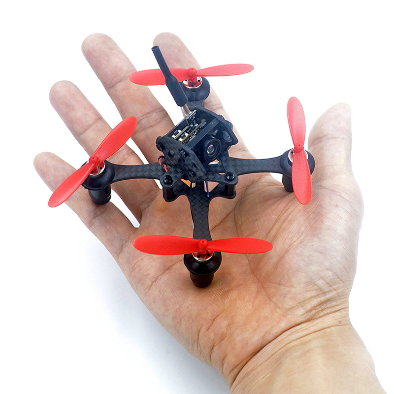 EYAS 55 Mini 85mm Drone Quadcopter Frame Kit with 5.8G 25mw Micro VTX AIO Mini FPV Camera 55mm 2 Blade Propeller for RC Indoor<br>