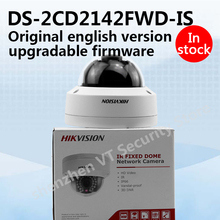 In stock original english version DS-2CD2142FWD-IS 4MP WDR Fixed Dome Network Camera 3D Digital Noise Reduction with aduio