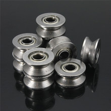 10pcs New 624VV 4mm High-carbon Steel V-Groove Pulley Sealed Ball Bearings Wire Guide Pulley Wheels Roller(China)