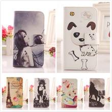 LINGWUZHE Cell phone shell protection PU Accessory wallet pouch Leather Flip Case For Fly IQ430 Evoke  cover card holder