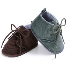 2 Colors Classic Corduroy Infant casual Baby boy girl shoes infant toddler crib 1-18 months 3 sizes Baby boots(China)
