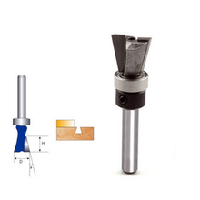 1/4x1/2 Carbide Dovetail Joint Router Bit with shank mounted  Bearing guide Woodworking Cutter For Home Accessories SGG#