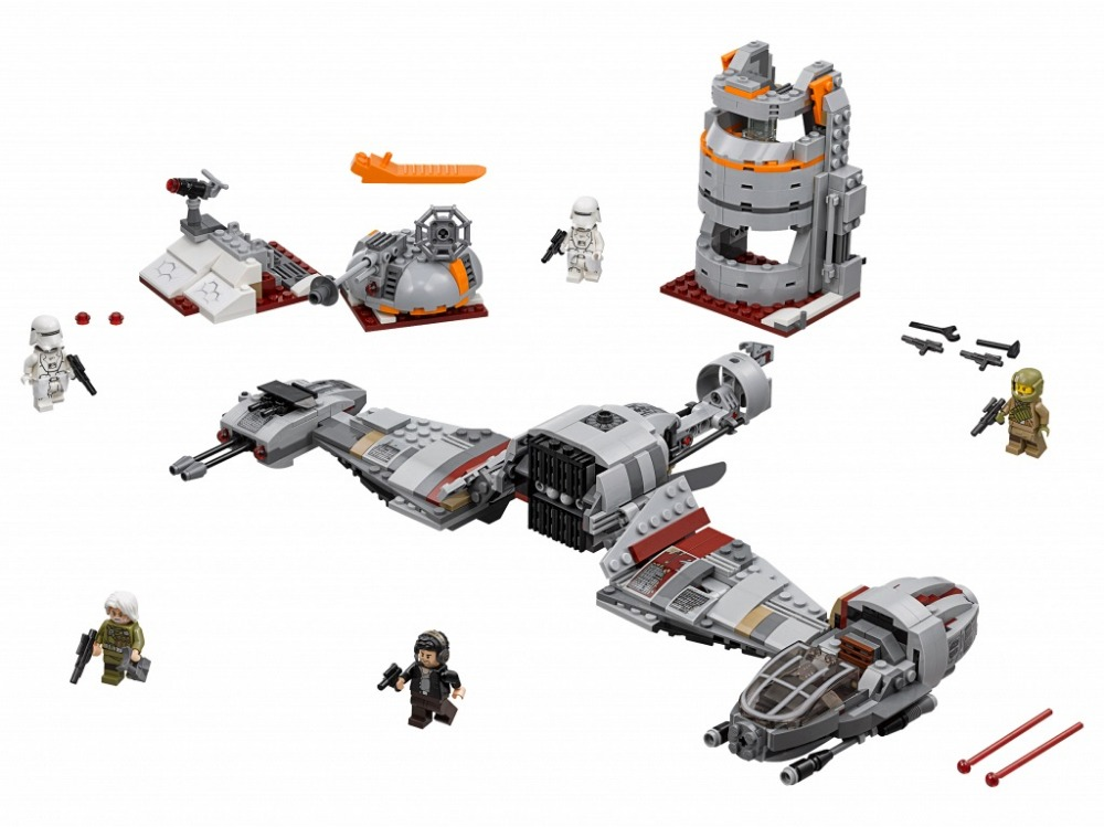 836pcs LEPIN 05141 Star Wars The Defense Of Crait Set Figure Blocks Compatible 75202 Construction Building Toys For Children<br>