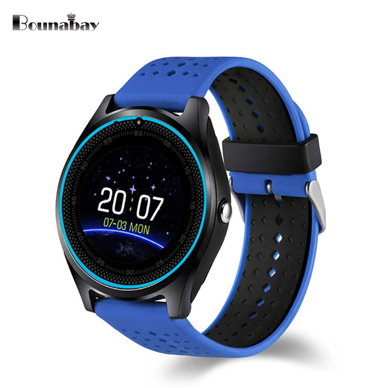 BOUNABAY Colorful Smart sports watch man Bluetooth Multi-lingual Watches Men Clock for apple Android ios phone wifi mans Clocks<br>