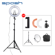 spash 12in 42W 5500K 180 LED Ring Light with Tripod Mirror Photography Lighting Dimmable Camera Photo Studio Video Ring Light(China)