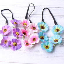Fashion Sale Children Kids Girls Flowers Headband Floral Headwear Hair Band Head Accessories The Wreath Wholesale festival style(China)