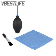 VBESTLIFE 3in1 Cleaner Kit Lens Cleaning Cloth+ Clean Lens Dust Brush+ Air Blower for Canon Nikon Camcorder DSLR VCR Watch Clean(China)