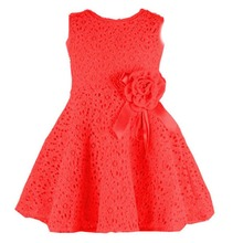 2017 Summer New Cute  Kids Girls Dress Elegant Baby Princess Dresses With Flower Fashion Lace Baby Girls Party Dress